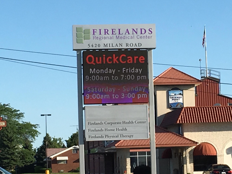 Firelands Regional Medical Center Quickcare Book Online Urgent