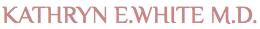 Kathryn E White, MD Logo