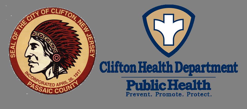Clifton City Hall - Vaccination Site Logo