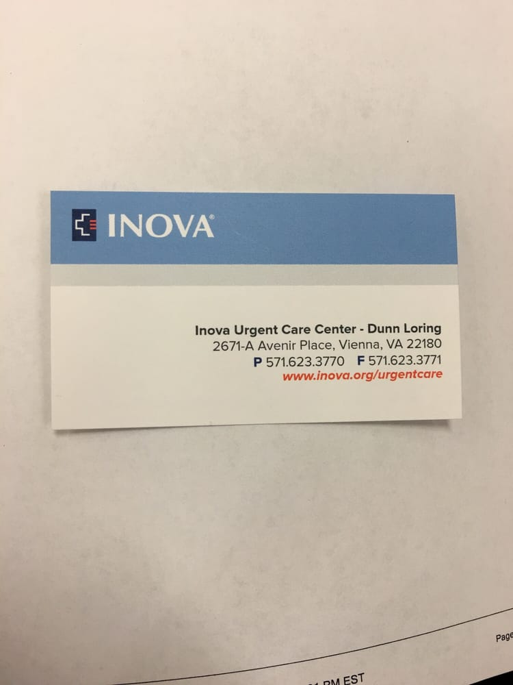 Inova Urgent Care - Dunn Loring - Urgent Care Solv in Vienna, VA