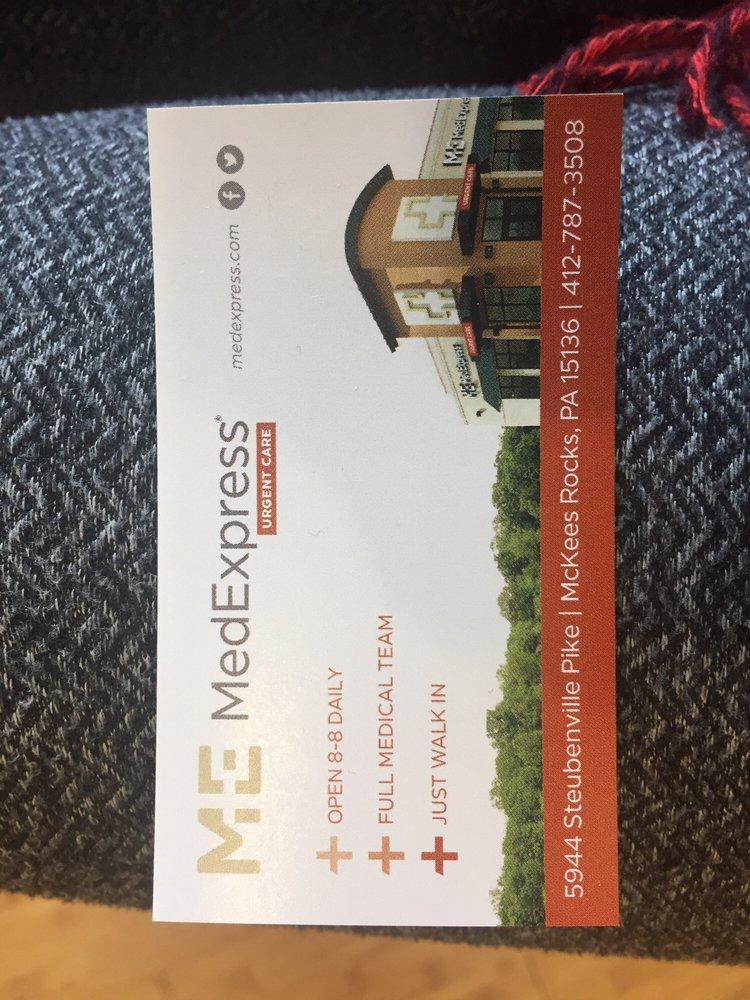 Medexpress Urgent Care Robinson Township Book Online