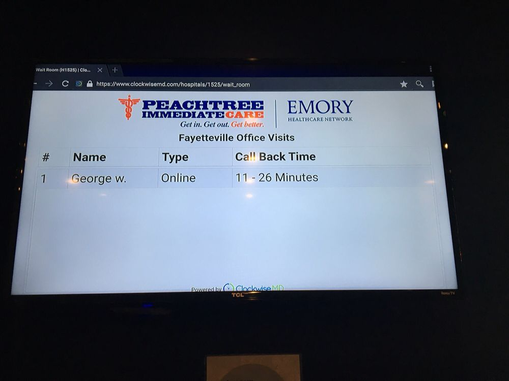 Peachtree Immediate Care | Emory Healthcare Network - Urgent Care Solv in Fayetteville, GA